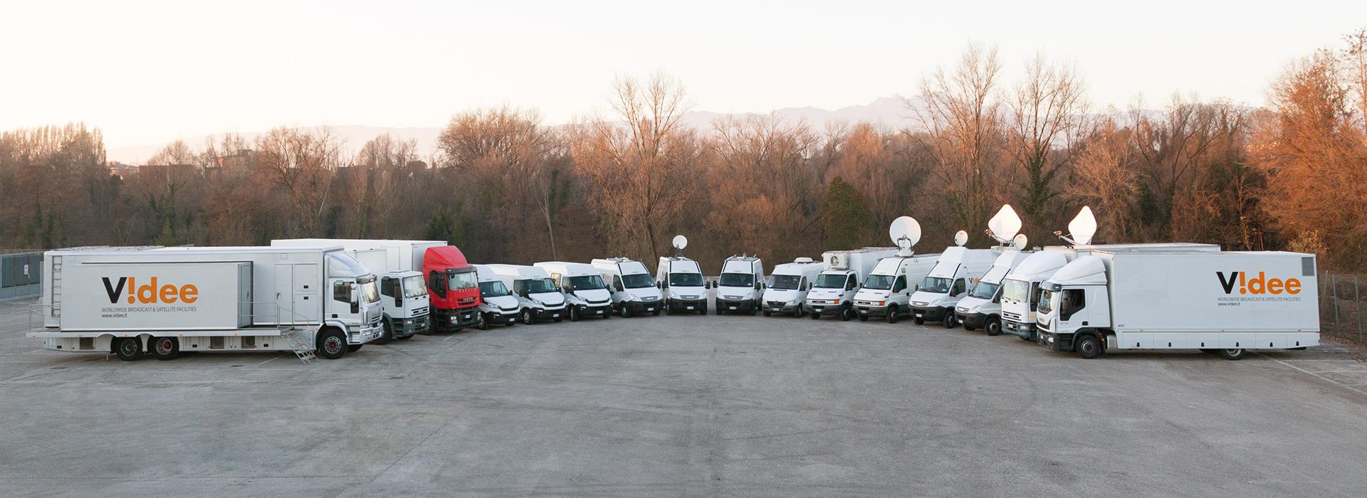 La flotta di Videe: regie mobili HD, ob-van e flight case