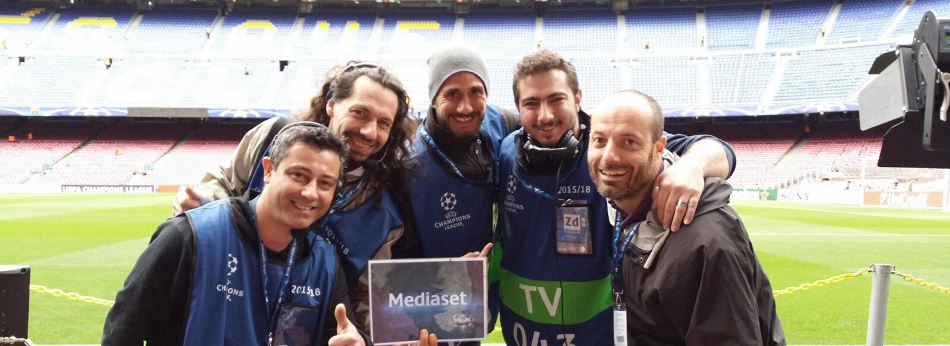 Il Team Videe alla Champions League per Mediaset