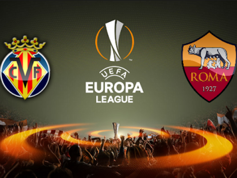 Europa League soccer match television Villareal VS Roma