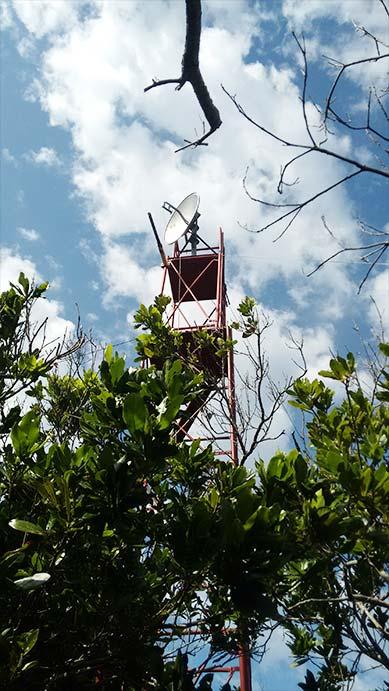 Trasmissione satellitare di segnali audio/video/dati